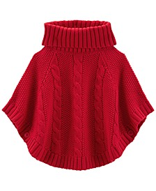 Toddler Girls Cable Knit Poncho