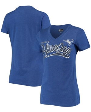 Women's Heathered Royal Toronto Blue Jays Good Day V-Neck T-shirt