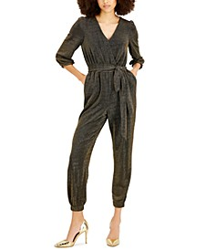 Belted Cropped Jumpsuit, Created for Macy's