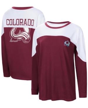 Women's Burgundy Colorado Avalanche Pop Fly Long Sleeve T-shirt