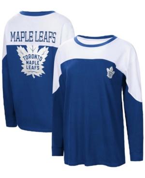 Women's Blue Toronto Maple Leafs Pop Fly Long Sleeve T-shirt