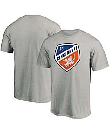 Men's Heathered Gray FC Cincinnati Team Primary Logo T-shirt