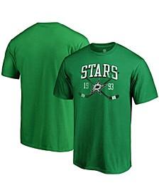 Men's Kelly Green Dallas Stars Big and Tall Line Shift T-shirt