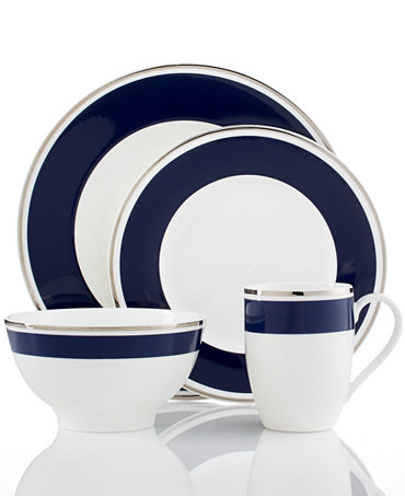 villeroy boch dinnerware anmut colour ocean blue collection fine china macy 39 s. Black Bedroom Furniture Sets. Home Design Ideas