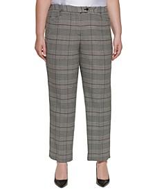 Plus Size Glen Plaid Modern Pants
