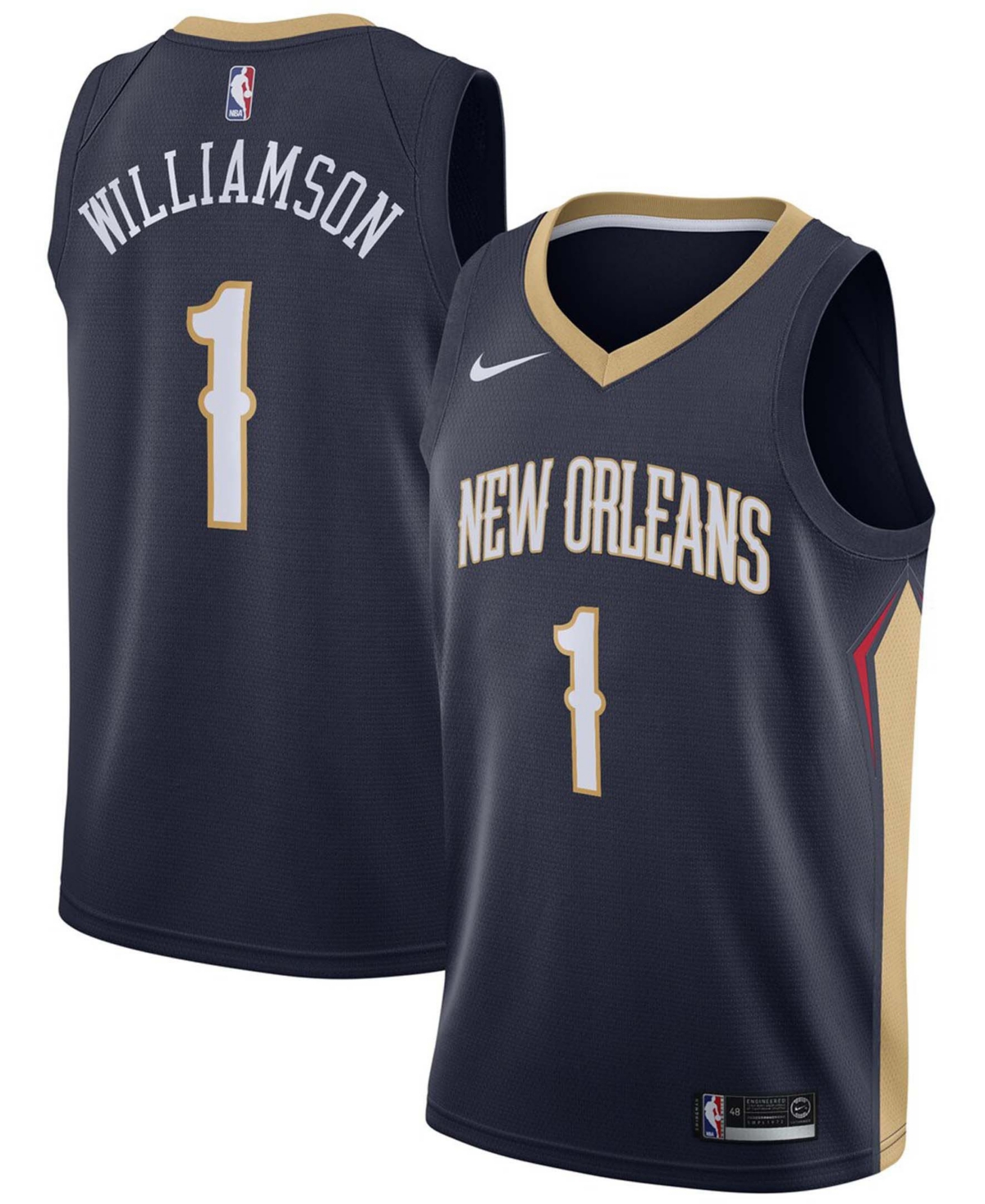 Men's Zion Williamson Navy New Orleans Pelicans 2019 Nba Draft First Round Pick Swingman Jersey - Icon Edition
