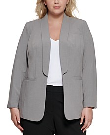 Shawl-Collar Open-Front Jacket