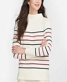 Women's Stripe Guernsey Knit Sweater