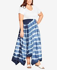 Plus Size Molly Print Maxi Skirt