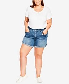 Plus Size Cute Denim Shorts