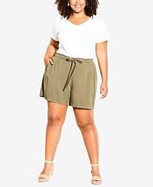 Plus Size Kenley Tie Shorts