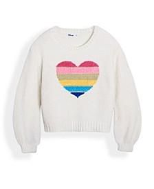 Little Girls Graphic Balloon Sleeve Sweater