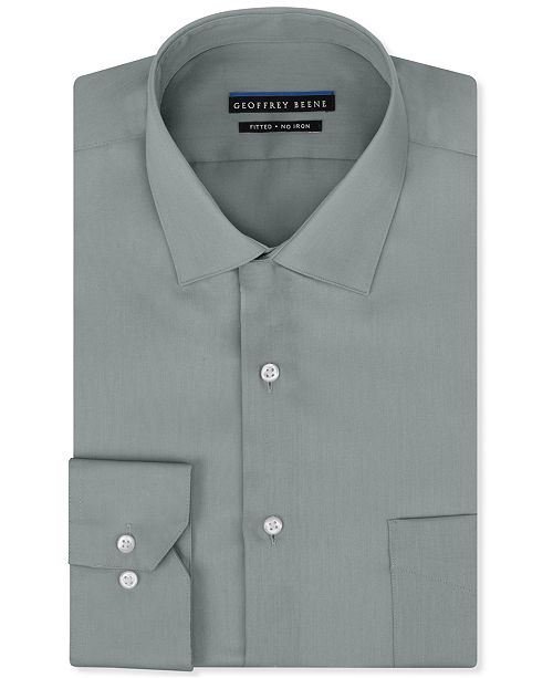 fff016fc0af ... Geoffrey Beene Men s Fitted No-Iron Stretch Sateen Dress Shirt ...