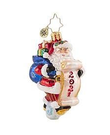 Santa Saves the Date Gem Ornament