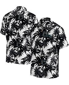Men's Black Carolina Panthers Sport Harbor Island Hibiscus Camp Button-Down Shirt