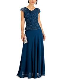 Beaded-Bodice Dress