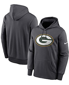 Men's Big and Tall Heathered Charcoal Green Bay Packers Primary Logo Therma Performance Pullover Hoodie