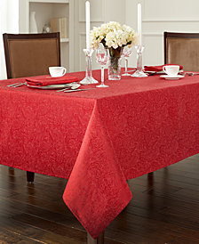 "Waterford Chelsea 70"" x 104"" Red Tablecloth"