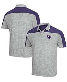 Men's Gray-Purple Washington Huskies Einstein Polo