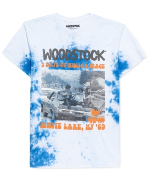Woodstock Concert Men's Tie-Dyed Graphic T-Shirt