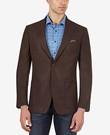 Men's Slim-Fit Brown Mix Sport Coat