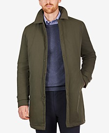 Men's Lotus Raglan Polyester Filled Overcoat with Removable Gator and Hood