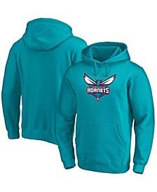 Men's Teal Charlotte Hornets Primary Team Logo Pullover Hoodie
