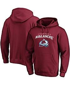 Men's Burgundy Colorado Avalanche Team Lockup Pullover Hoodie