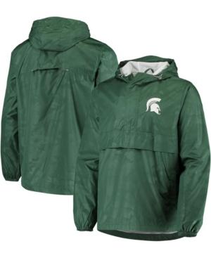 Men's Green Michigan State Spartans High Impact Hoodie Half-Zip Jacket