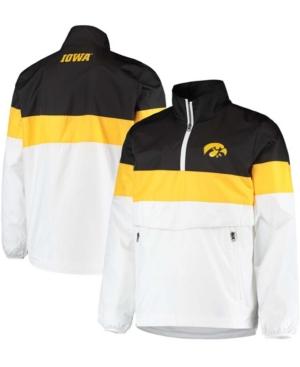 Men's White Iowa Hawkeyes No Huddle Half-Zip Pullover Jacket