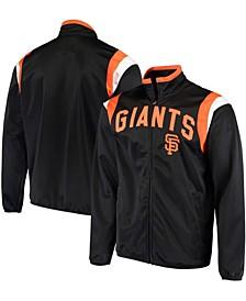 Men's Black San Francisco Giants Post Up Full-Zip Track Jacket