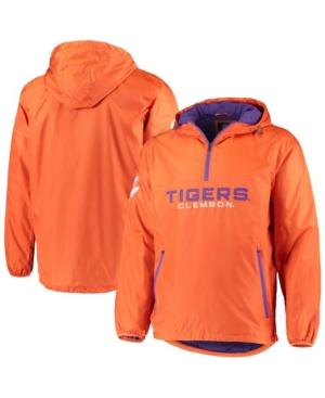 Men's Orange Clemson Tigers Base Runner Half-Zip Hoodie Jacket