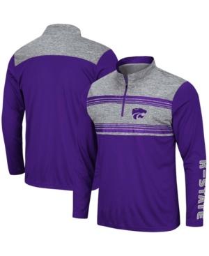 Men's Purple Kansas State Wildcats Tuxedo Night Quarter-Zip Jacket