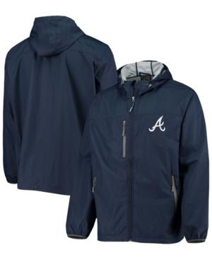 Men's Navy Atlanta Braves Double Play Hoodie Full-Zip Jacket