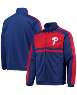 Men's Royal Philadelphia Phillies Full-Zip Track Jacket