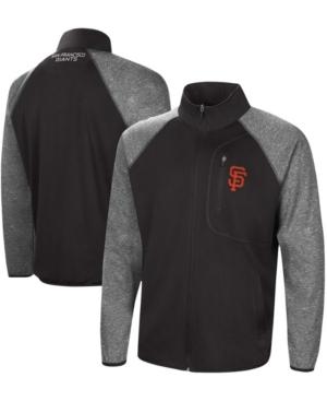 Men's Black San Francisco Giants Freestyle Transitional Raglan Full-Zip Jacket