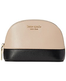 Spencer Small Dome Leather Cosmetic Bag
