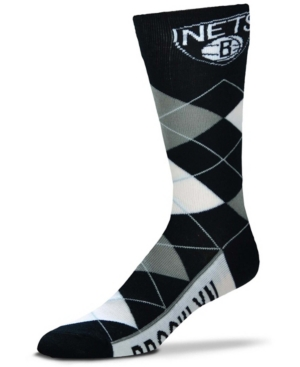 Men's and Women's Brooklyn Nets Argyle Multi Crew Socks