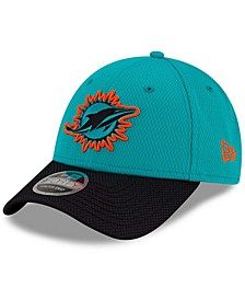 Youth Girls and Boys Aqua, Black Miami Dolphins 2021 NFL Sideline Home 9Forty Adjustable Hat