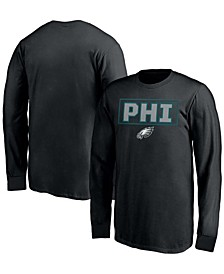 Youth Boys Black Philadelphia Eagles Squad Throwback Long Sleeve T-shirt