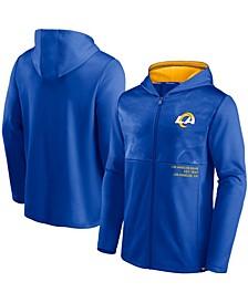 Men's Royal Los Angeles Rams Defender Full-Zip Hoodie Jacket