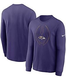 Men's Purple Baltimore Ravens Legend Icon Performance Long Sleeve T-shirt