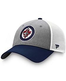 Men's Gray, Blue Winnipeg Jets Team Trucker Snapback Hat