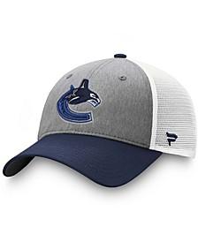 Men's Gray, Blue Vancouver Canucks Team Trucker Snapback Hat