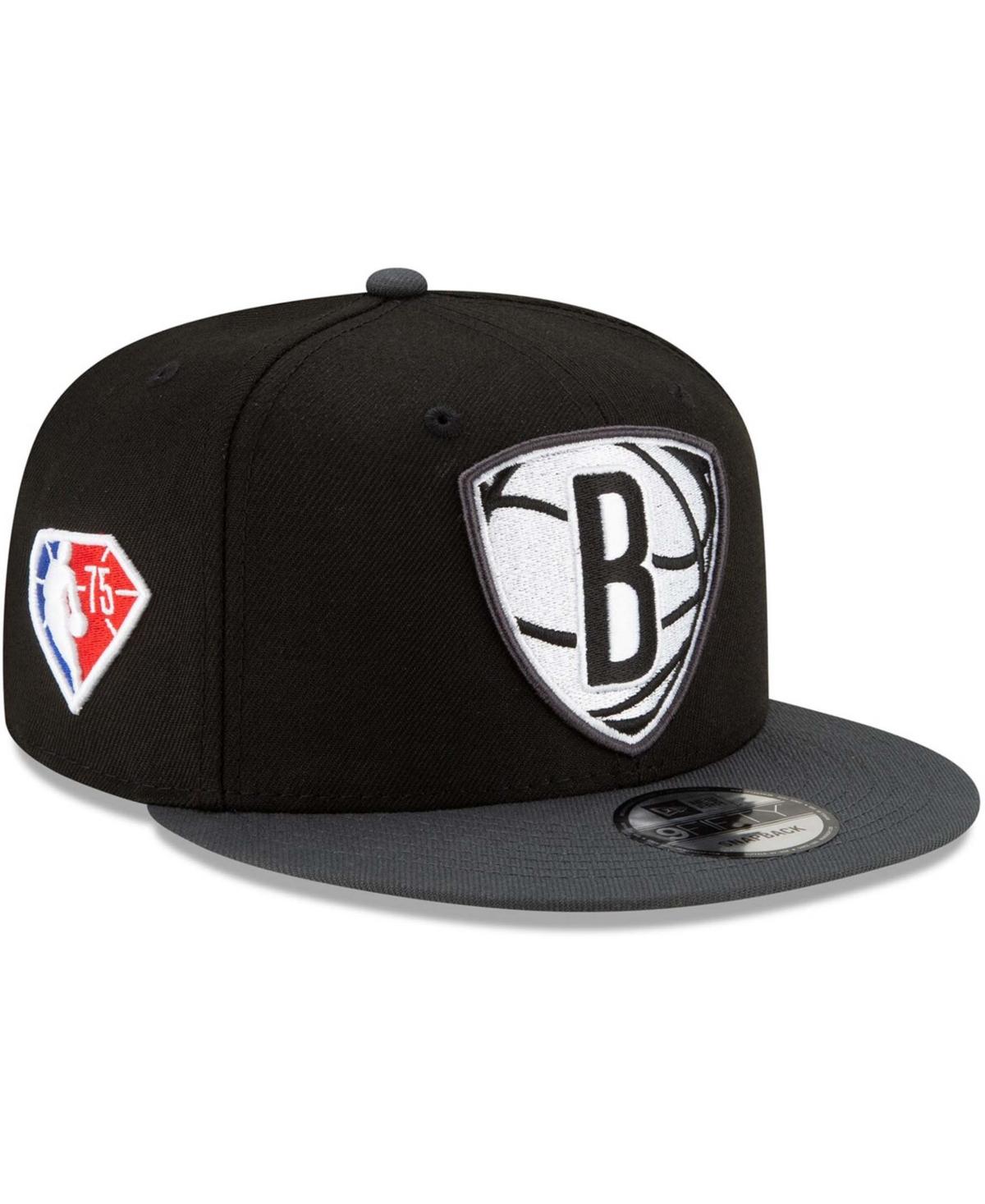 Men's Black Brooklyn Nets 2021 Nba Draft On-Stage 9Fifty Snapback Adjustable Hat