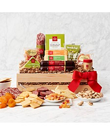 Holiday Meat & Cheese Wooden Gift Crate