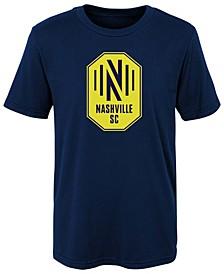 Preschool Girls and Boys Navy Nashville Sc Primary Logo T-shirt