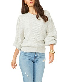 Variegated Cables Crewneck Sweater