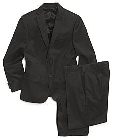 Lauren Ralph Lauren Black Solid Suit Blazer & Pants, Big Boys