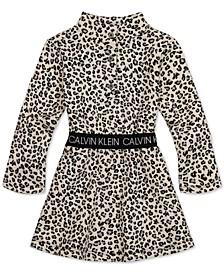 Baby Girls Leopard-Print Fleece Dress